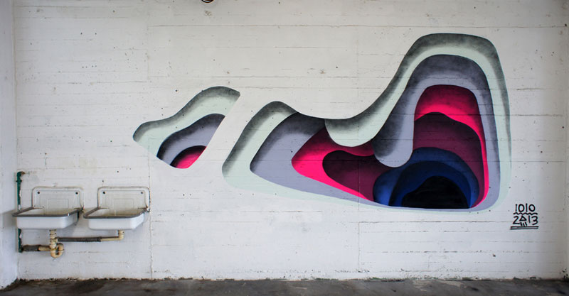 3d street art by 1010 portal to another dimension wormholes (4)