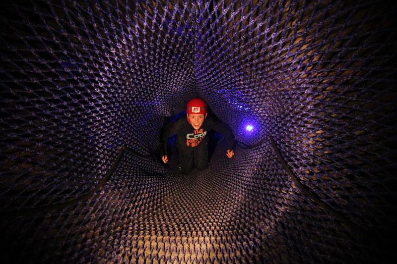 bounce below worlds largest underground trampoline (1)