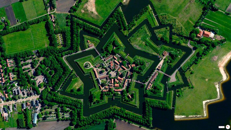 bourtange netherlands from above Earth View: A Curated Collection of 1500 Google Earth Wallpapers
