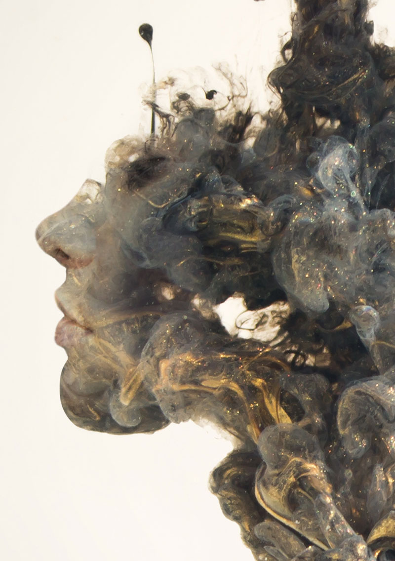 double exposure faces blended into plumes of ink in water by chris slabber (8)