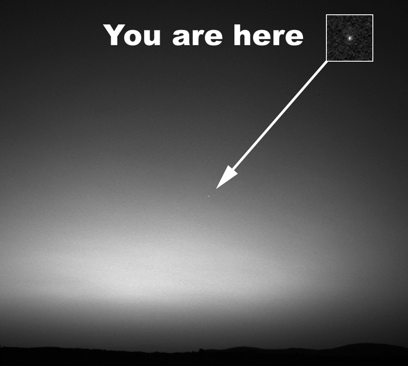 earth from mars first picture of earth from another planet Picture of the Day: The First Image of Earth from Another Planet