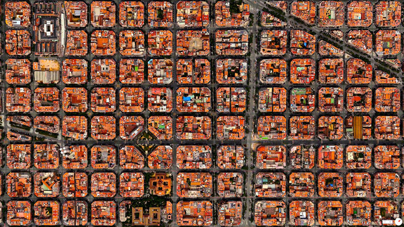 eixample district barcelona from above aerial satellite 17 Satellite Photos Around the World that Will Change Your Perspective