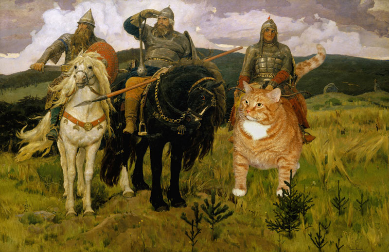 fat cat photoshopped into famous artworks (10)