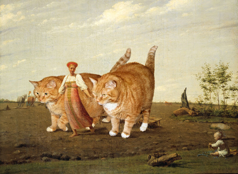 fat cat photoshopped into famous artworks (12)