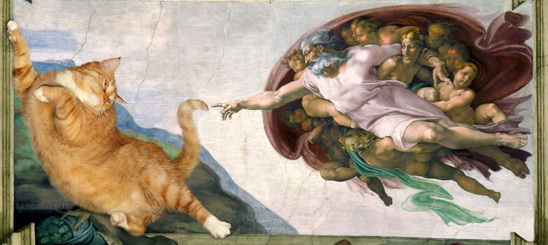 fat cat photoshopped into famous artworks (4)