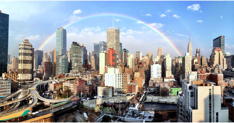 perfect rainbow over new york Picture of the Day: A Perfect Rainbow Over New York