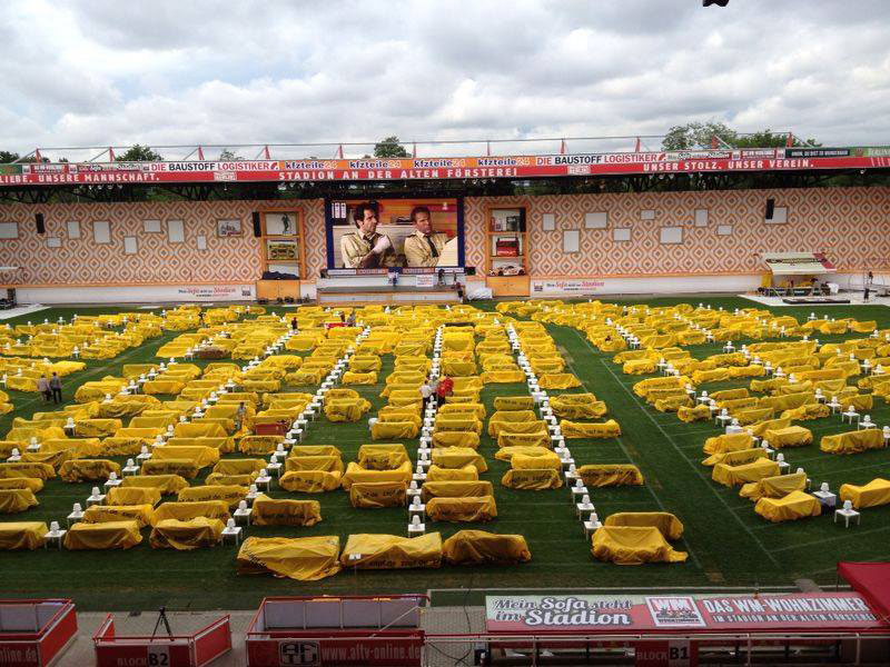 stadium in berlin turned into giant living room people bring own couches (3)