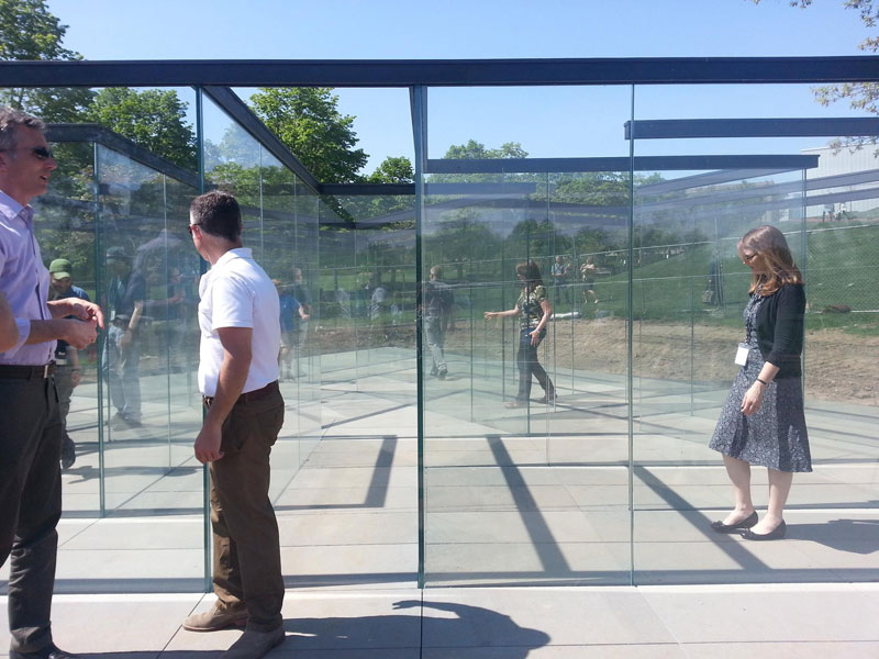 the glass labyrinth by robert morris at the donald j hall sculpture park (4)
