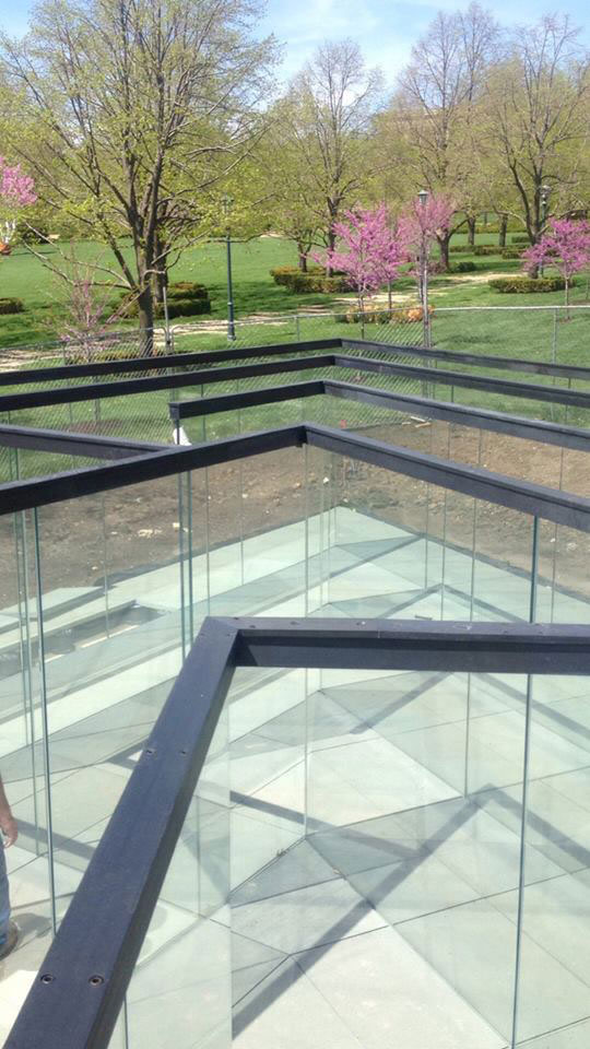 the glass labyrinth by robert morris at the donald j hall sculpture park (5)