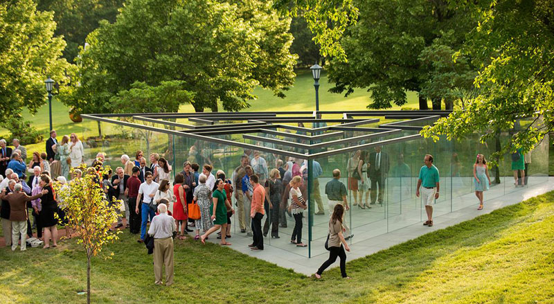the glass labyrinth by robert morris at the donald j hall sculpture park (6)