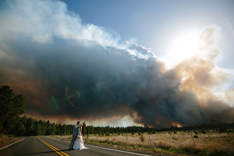 weddings and wildfire Picture of the Day: Weddings and Wildfire