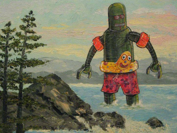adding characters to thrift store paintings by david irvine gnarled branch (12)