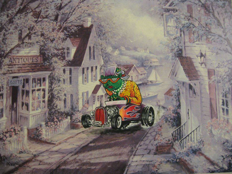 adding characters to thrift store paintings by david irvine gnarled branch (13)