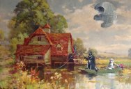 This Guy Paints Random Characters Into Old Thrift Store Paintings