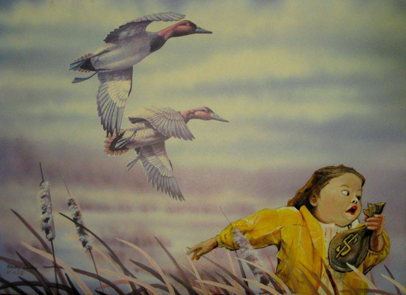 adding characters to thrift store paintings by david irvine gnarled branch (35)