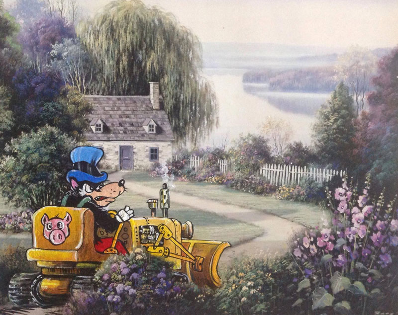 adding characters to thrift store paintings by david irvine gnarled branch (37)