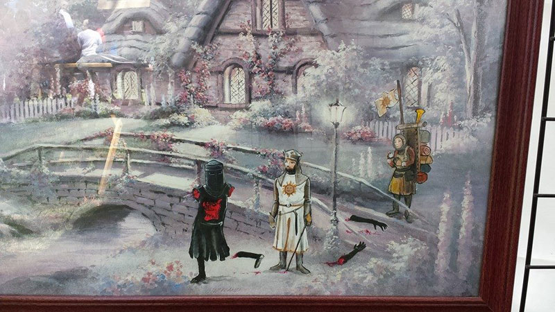 adding characters to thrift store paintings by david irvine gnarled branch (38)