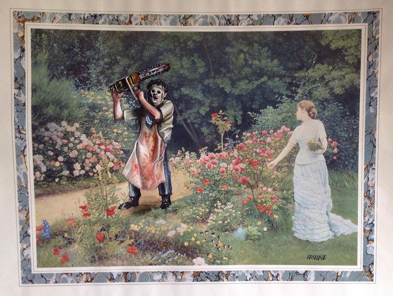 adding characters to thrift store paintings by david irvine gnarled branch (39)