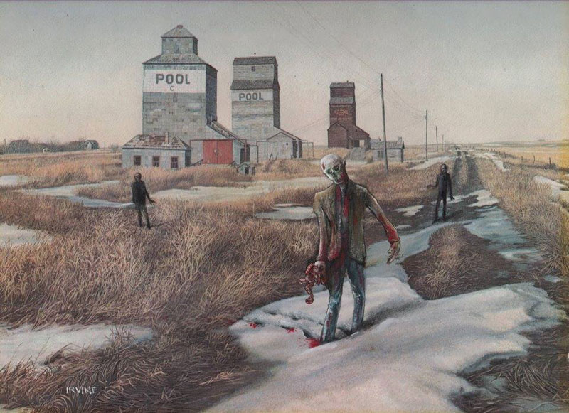 adding characters to thrift store paintings by david irvine gnarled branch (4)