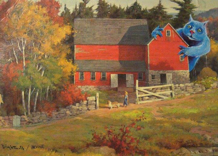 adding characters to thrift store paintings by david irvine gnarled branch (8)