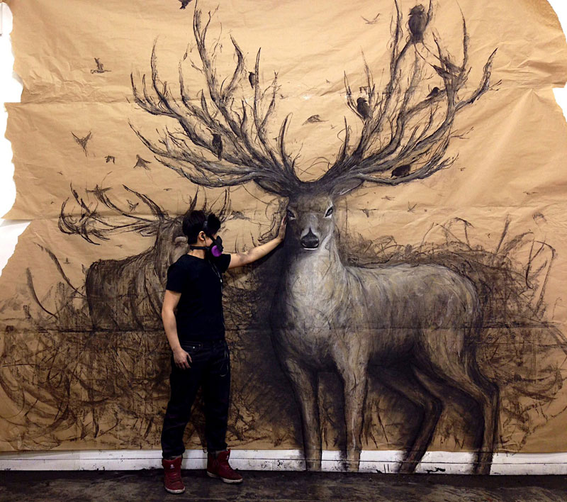 animal murals leap off the wall fiona tang (1)