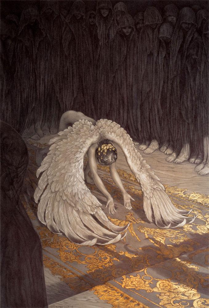 ballpoint pen and gold lef illustrations by rebecca yanovskaya (5)