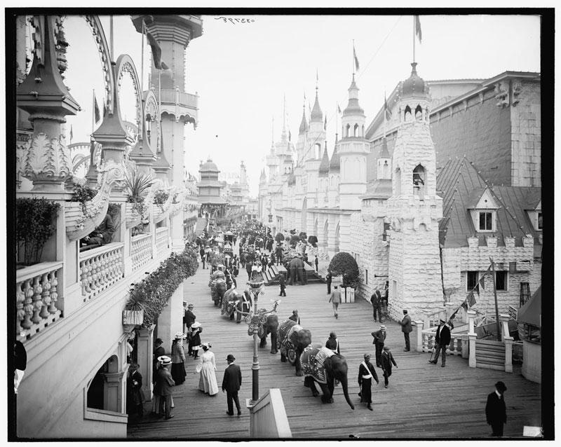 coney island in color circa 1905 luna park promenade (2)