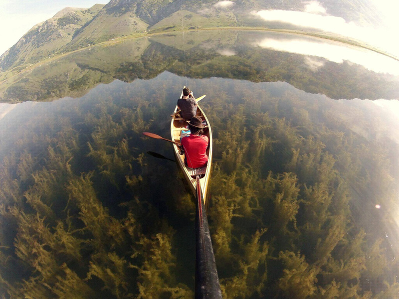crystal clear lake canoe gopro Picture of the Day: Crystal Clear Canoeing