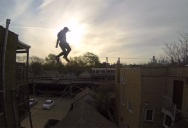This Guy Jumped from One Roof to Another and Then Took It One Step Further