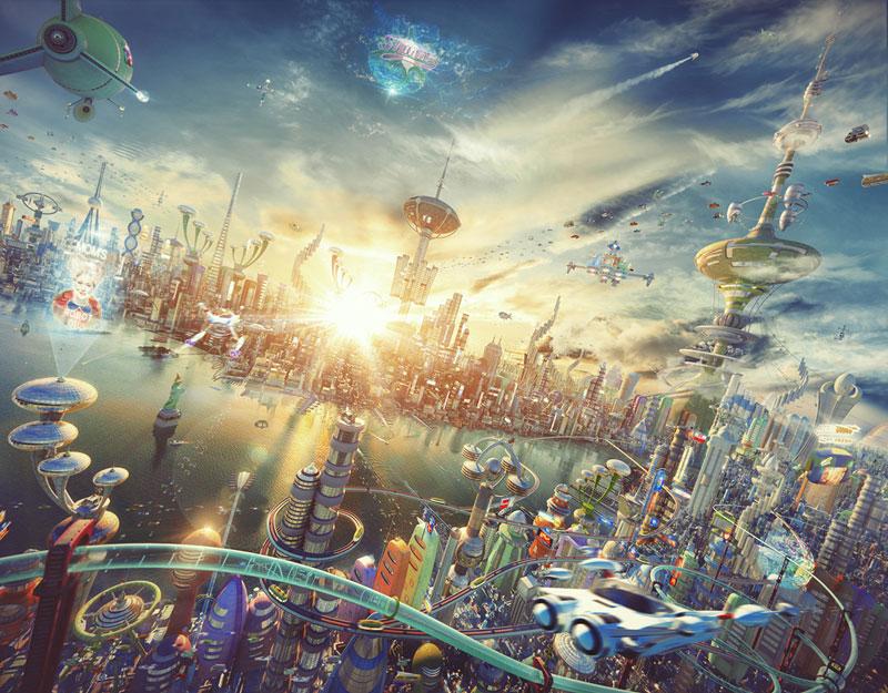 if futurama was 3D by alexey zakharov (3)