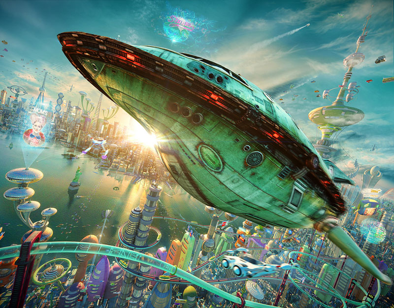 if futurama was 3D by alexey zakharov (7)