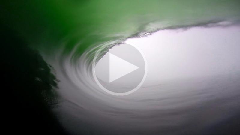 Inside a Kilometer Long Barrel Wave