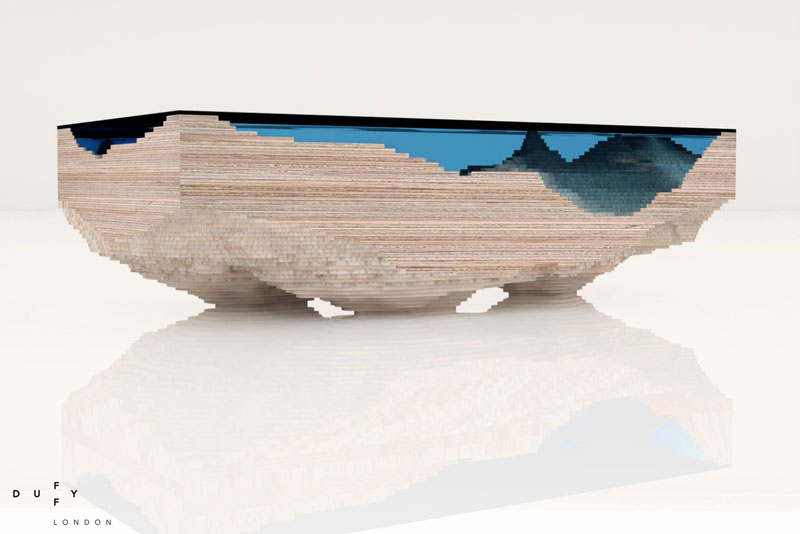 layered glass coffee table shows depths of the oceans by duffy london (4)