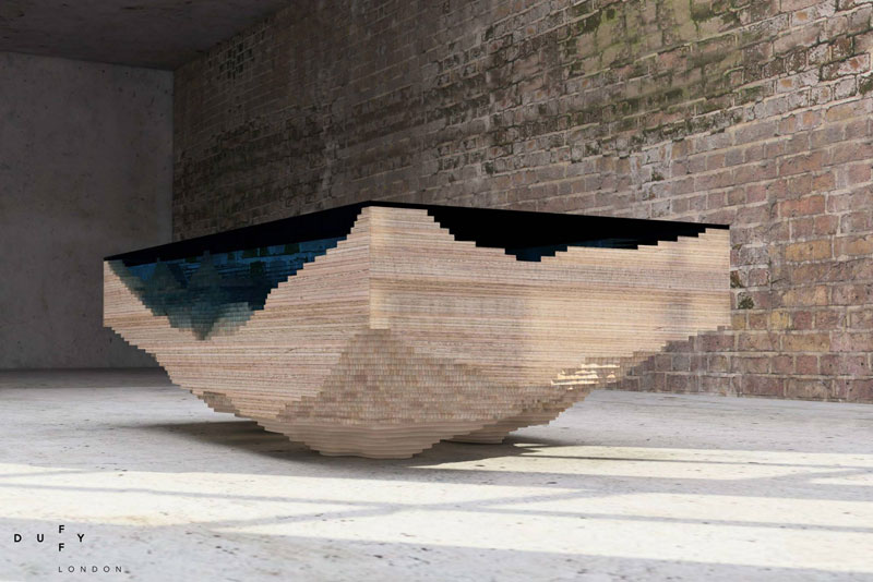layered glass coffee table shows depths of the oceans by duffy london (5)