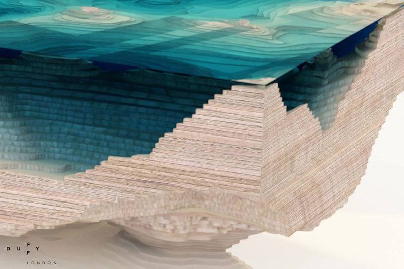 layered glass coffee table shows depths of the oceans by duffy london (6)