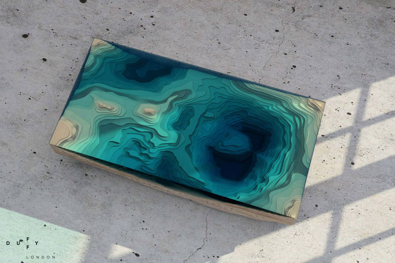 layered glass coffee table shows depths of the oceans by duffy london (7)