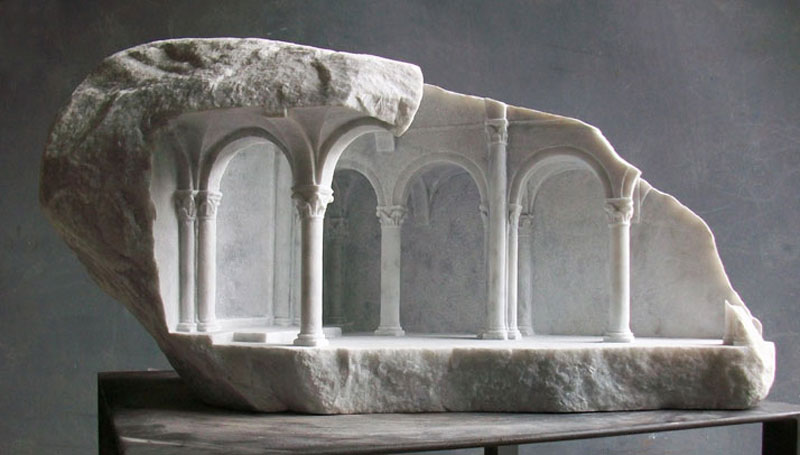 miniature columns and pillars carved into marble by matthew simmonds (1)
