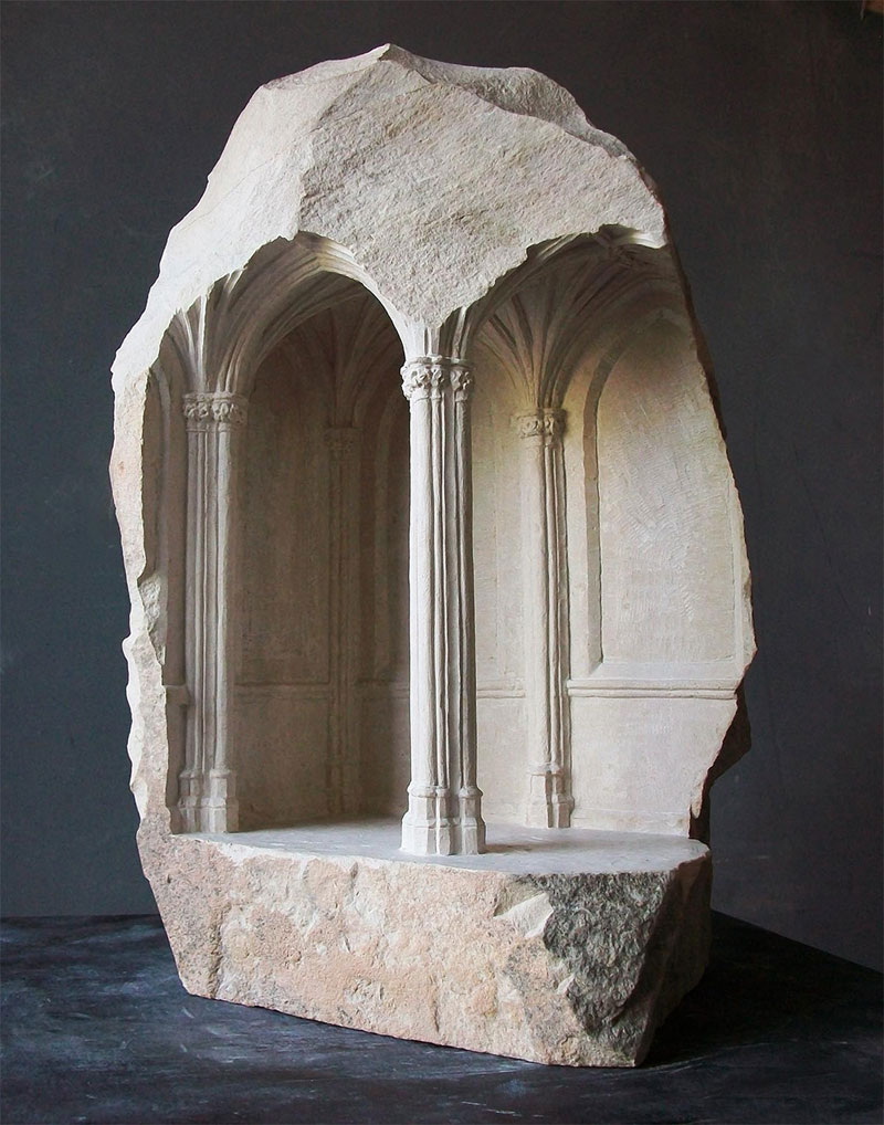 miniature columns and pillars carved into marble by matthew simmonds (10)
