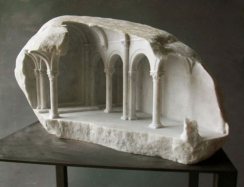 miniature columns and pillars carved into marble by matthew simmonds (7)