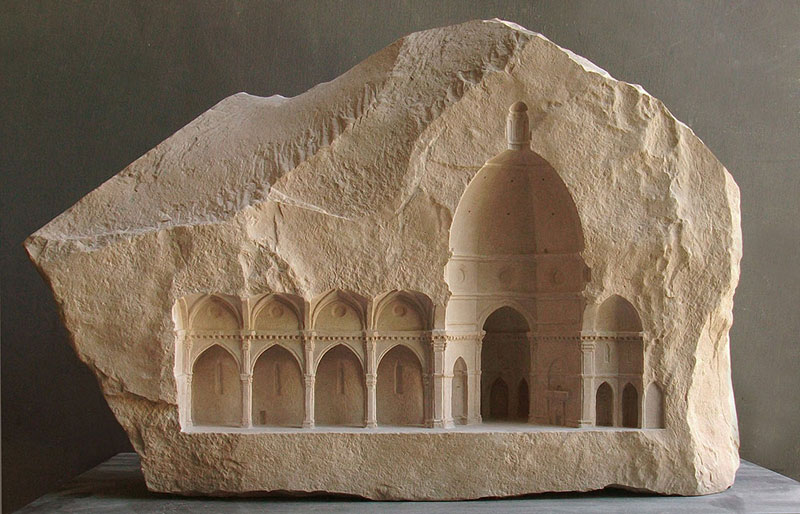 miniature columns and pillars carved into marble by matthew simmonds (8)
