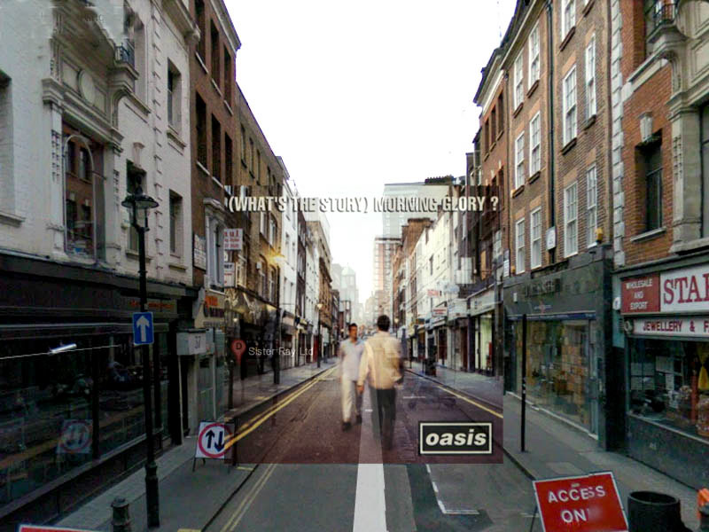 oasis whats the story morning glory superimposed