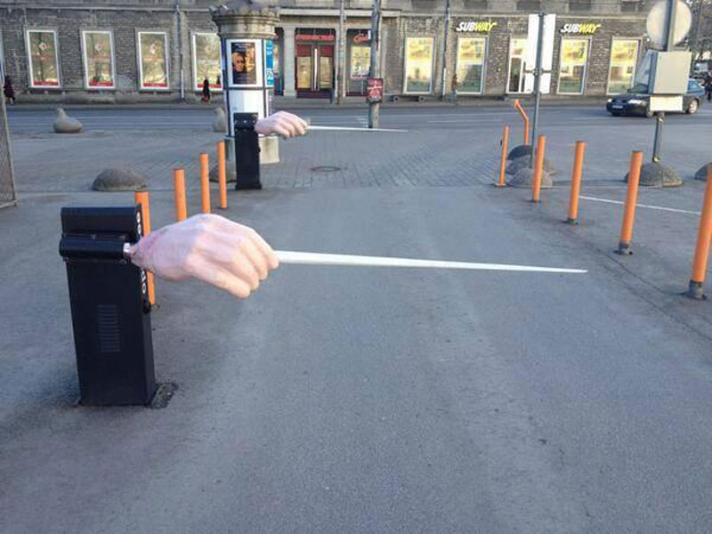 parking entrance to the estonian national opera