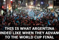 This is What Argentina Sounded Like When they Advanced to the World Cup Finals