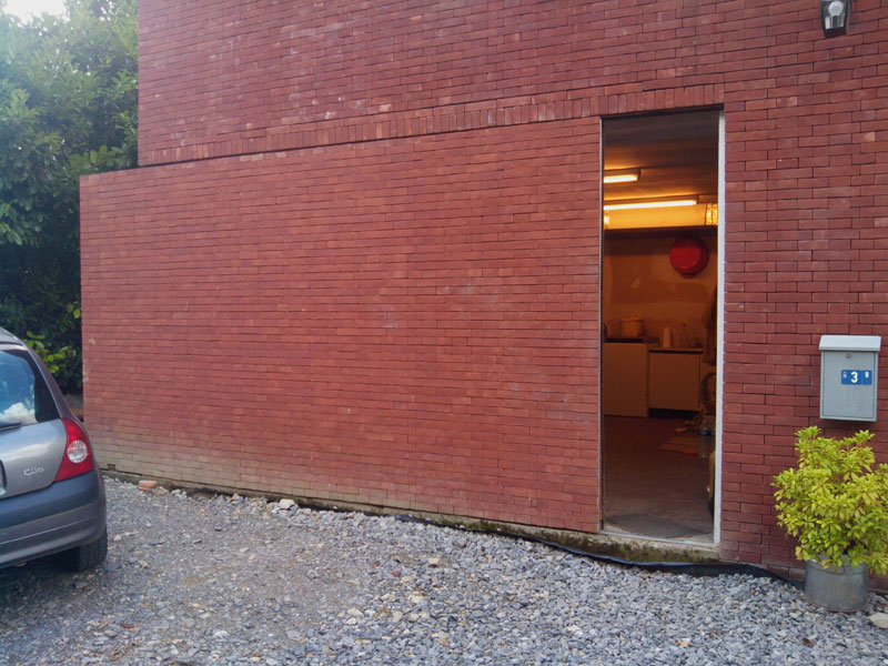 Picture of the Day: Super Sneaky Sliding Brick Wall Door