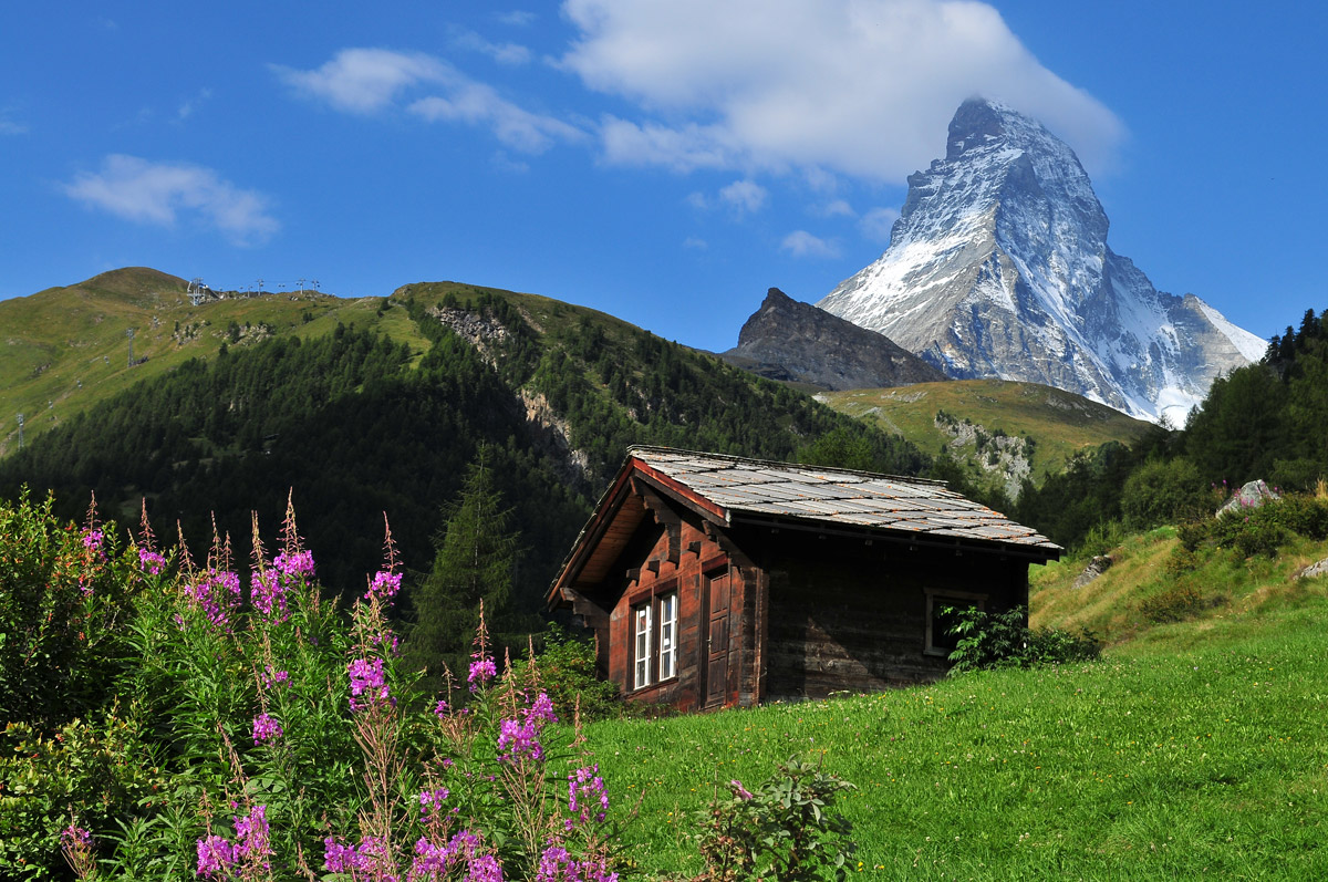cabin on the matterhorn swiss landscape Picture of the Day: Cabin on the Matterhorn