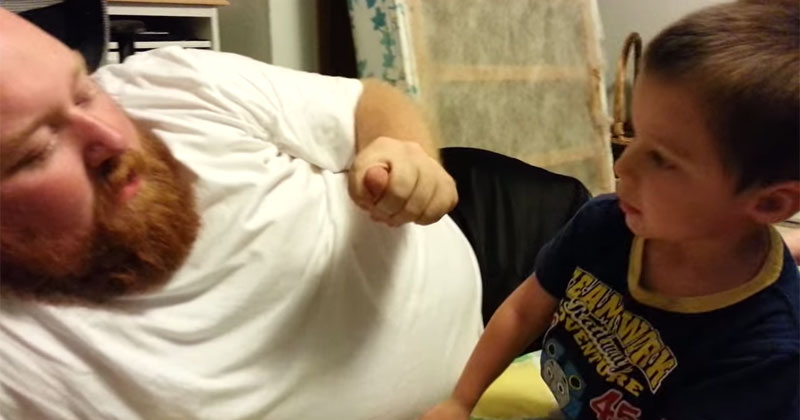 Little Kid is Crushed When Dad Takes His Ear