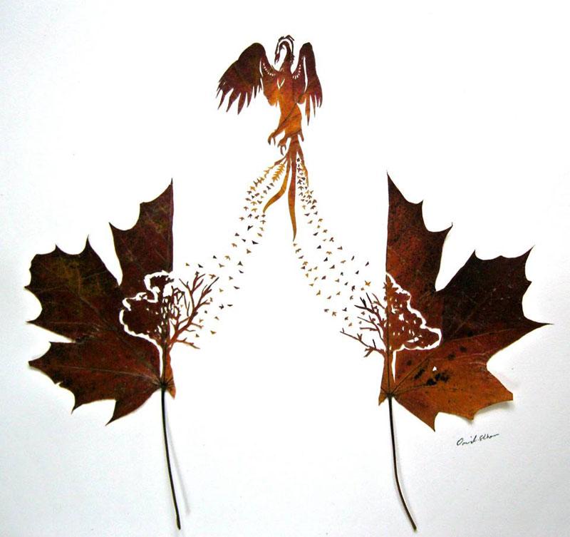 leaf cut art by omad asadi (6)