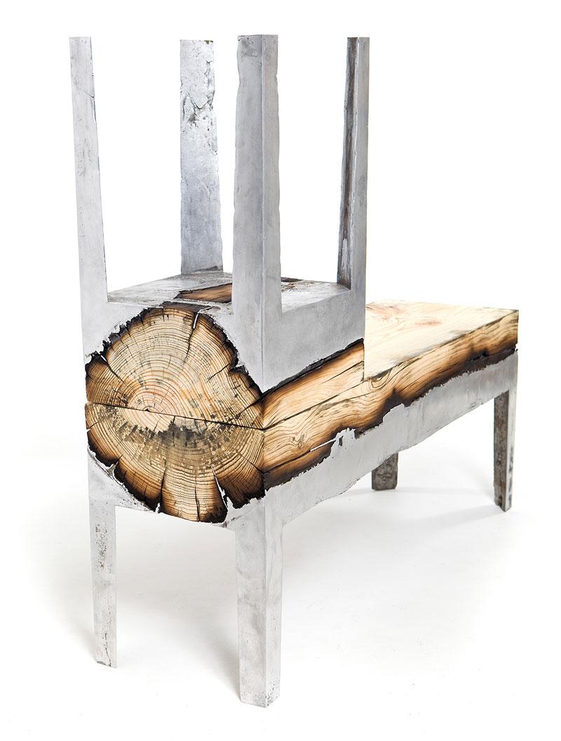 molten metal meets wood furniture hilla shamia (4)