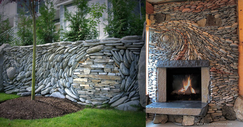 most amazing stone walls you will see today Artist Only Uses 12 Inch Nails to Create Sculptures