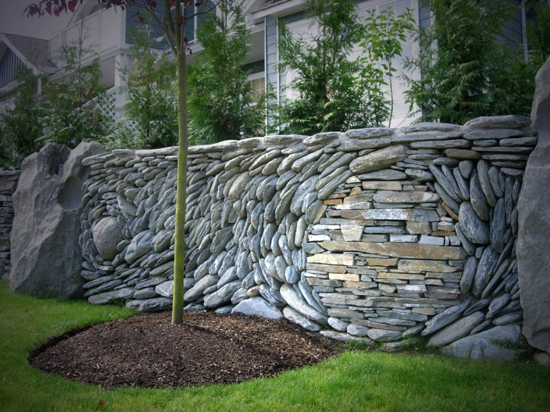 stone wall art by andreas kunert and naomi zettl ancient art of stone 7 Couple Creates the Most Beautiful Stone Walls Ever